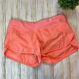 LuluLemon Athletia Orange Workout Shorts